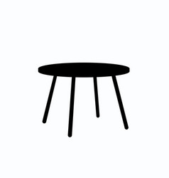 table isolated on ligth blue vector image vector image