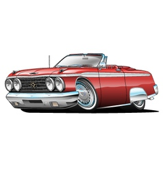 62 Galaxie 500 Convertible cartoon vector image