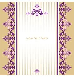Antique ottoman turkish pattern design sixty nine vector
