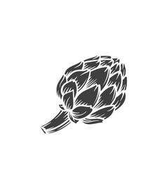 Artichoke glyph icon vector