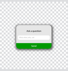 Ask a question template - ask me vector