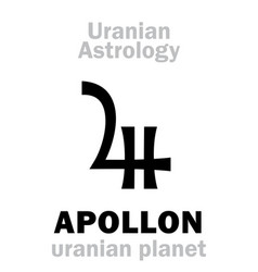 Astrology apollon uranian planet vector