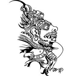 bali motifs stone idol of bali island vector image