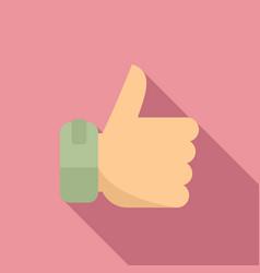 bonus thumb up icon flat style vector image
