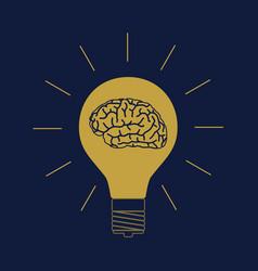 Brain light vector