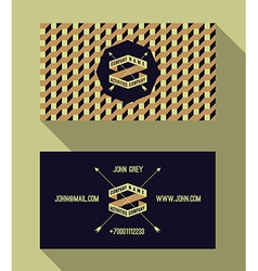 Business card template vintage retro background vector
