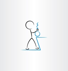 Chemist man experiment icon vector