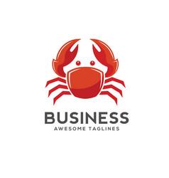 Crab logo style vector