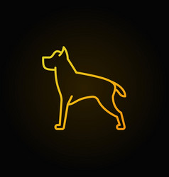 Dog line yellow concept icon vector