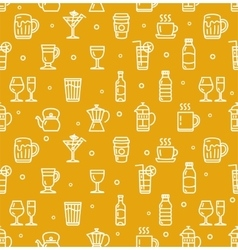 Drink background for bar restaurant vector