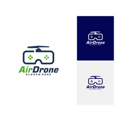 Drone logo design template photography drone icon vector