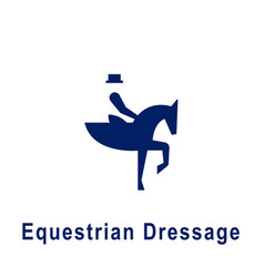 Equestrian dressage pictograph new sport icon vector
