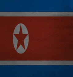 Flag of north korea messy vector