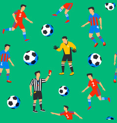 Football players seamless pattern sport vector