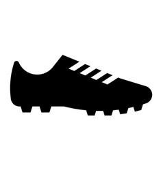 glyph beautiful football shoe icon vector image