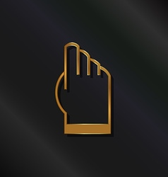 Gold touchscreen hand logo vector
