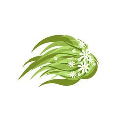 green plant with flowers landscape design element vector image
