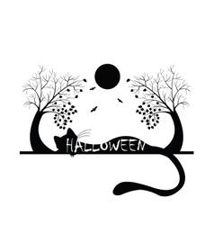 Halloween silhouette vector