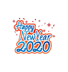 happy new year 2020 logo text design concept vector image