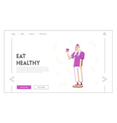 healthy sports lifestyle website landing page vector image