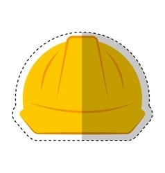 helmet safety isolated icon vector image