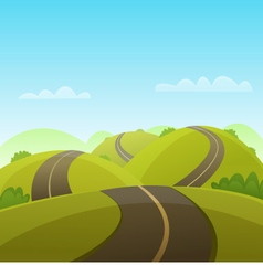 Hill Road vector image