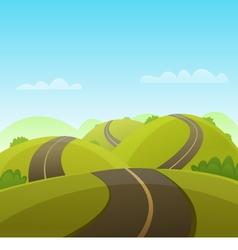 Hill Road vector