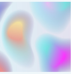 holographic abstract background in pastel colors vector image