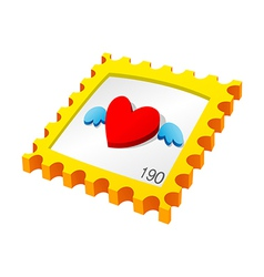 icon stamp vector image