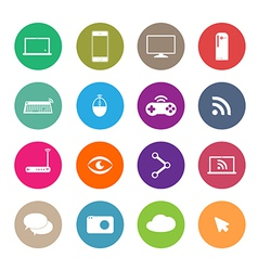 Icons social network vector