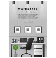 Interior design Modern workspace banner 8 vector