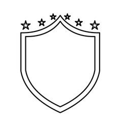 justice shield with stars isolated icon vector image