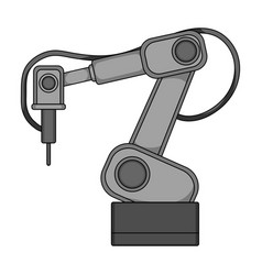 machine single icon in monochrome stylemachine vector image