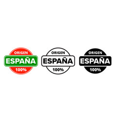 made in spain logo origen espana product label vector image