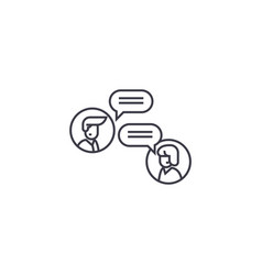 online discussion line icon sign vector image