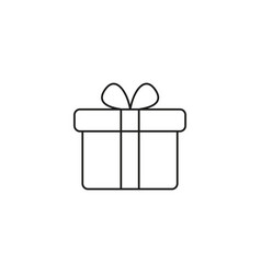 present gifts icon vector image