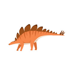 Profile stegosaurus dino with spikes and plates vector