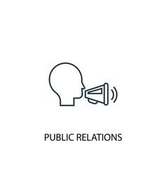 public relations concept line icon simple element vector image