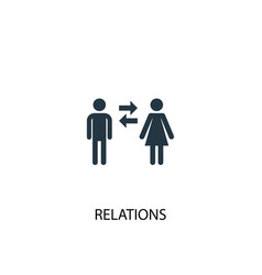 Relations icon simple element vector