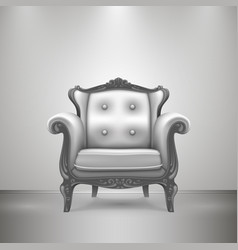 Retro chair gray vector