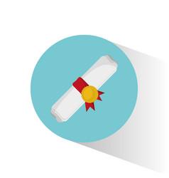 roll certificate education graduation vector image