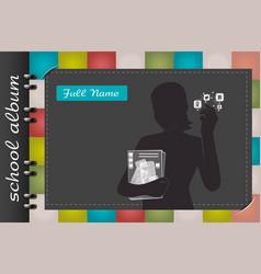 school album blogger vector image