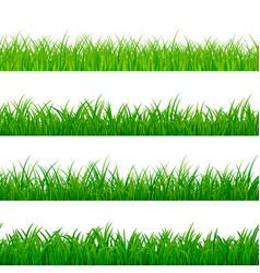 seamless horizontal grass border green herbal vector image