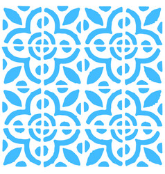 Seamless pattern with dutch ornaments in delft vector