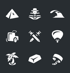 set of ancient egypt icons vector image
