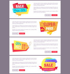 set sale special offer order now web poster vector image