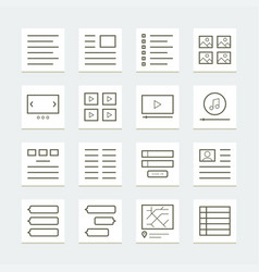 Set website elements for template vector