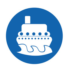Ship boat isolated icon vector