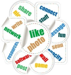 Social Media Word and Icon Cloud vector