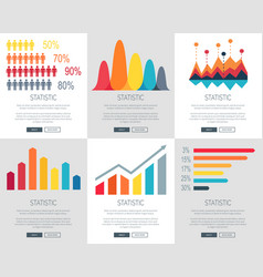 Statistic set of web page designs vector